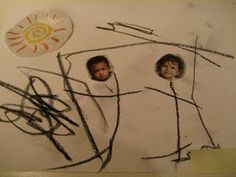 Love That Max: Special Needs Blog : 8 art ideas for kids with special needs from an art therapist Art starter paper....include cut out so the page is not blank.