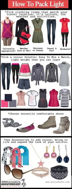 travel packing tips to help you pack light without sacrificing comfort and style - Click image to find more travel Pinterest pins