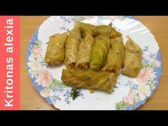 Παραδοσιακοί λαχανοντολμαδες!! |kritonas alexia - YouTube Greek, Turkey, Meat, Chicken, Youtube, Food, Turkey Country, Essen, Meals