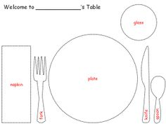 table setting guide- Social Butterfly Junior badge