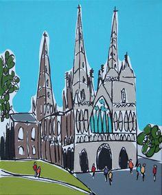 "Rachel Tighe  Lichfield Cathedral Spring  10"" x 12""  £195"