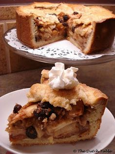 The Dutch Table: Appeltaart (Dutch Apple Pie) My husband loves to bake this one ,yummy Dutch Oven Recipes, Amish Recipes, Apple Pie Recipes, Traditional Dutch Recipes, Typical Dutch Food, Just Desserts, Dessert Recipes, Dutch Desserts, English Food