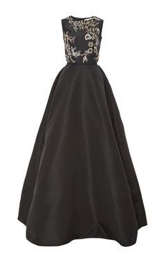 Sleeveless Embellished Gown by OSCAR DE LA RENTA for Preorder on Moda Operandi