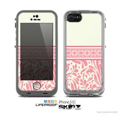 The Pink & Tan Polka Dot Pattern V1 Skin for the Apple iPhone 5c LifeProof Case