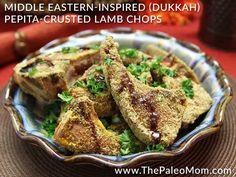 Middle Eastern-Inspired (Dukkah) Pepita-Crusted Lamb Chops ~ The Paleo Mom