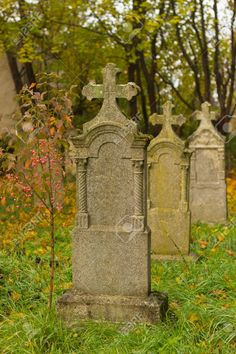 Picture of Gravestones in an old cemetery stock photo, images and stock photography. Cemetery Art, Cemetery Monuments, Old Cemeteries, Graveyards, Morning Girl, Harbor City, 17th Century Art, Banner Printing, Luxor Egypt