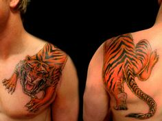 Cool Tiger Tattoo Style Wallpaper | Download cool HD wallpapers here.