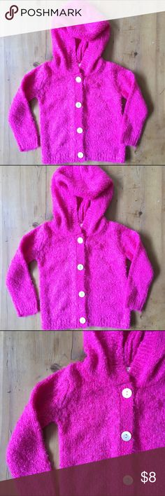 Harper Canyon Pink Sweater Size 12 months great condition buttons up front  has hood so so cute 100% Acrylic Harper Canyon Shirts & Tops Sweaters