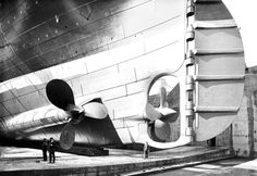 titanic`s rudder and propellers, 1912