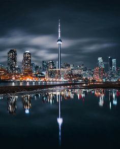 Reflections of Toronto at Night - Architecture and Urban Living - Modern and Historical Buildings - City Planning - Travel Photography Destinations - Amazing Beautiful Places Toronto Canada, Toronto City, Vancouver City, Canada Eh, Toronto Photography, Urban Photography, Amazing Photography, Travel Photography, Helsinki
