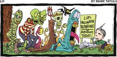 Lio: Costume ideas by Mark Tatulli on GoComics.com #GoComics #Funnies #Humor #Halloween