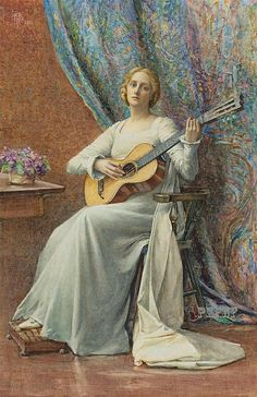 """MELODY"" Artist: Henry Meynell Rheam (British, 1859-1920)"