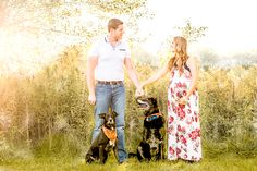 Maternity Session with Dog Siblings! Becky Griffone Photography