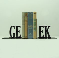 Geek Metal Art Bookends