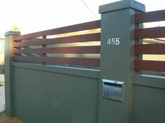 Fence Design Ideas - Photos of Fences. Browse Photos from Australian Designers & Trade Professionals, Create an Inspiration Board to save your favourite images. Boundry Wall, Fence Wall Design, Fence Builders, Glass Fence, Modular Walls, Garden Photos, Small House Design, Concrete Wall, Fence Ideas