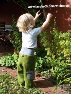Hosen - Walk Pumphose Wollwalk Hose Baby Waldorf - ein Designerstück von Carry-a-Rose bei DaWanda