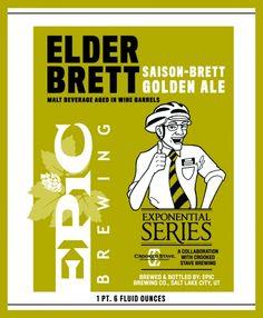 Elder Brett: Saison-Brett Golden Ale from Epic Brewery