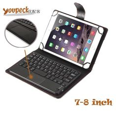 3-in-1 DETACHABLE Wireless Bluetooth Keyboard Case for 7 ~8 inch Tablet Universal for Samsung Galaxy Tab A S PU Leather Cover  — 1536.93 руб. —