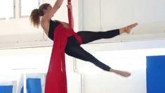 Aerial silks routine