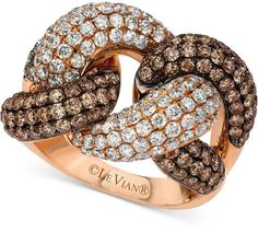 LeVian Le Vian Red Carpet Diamond Knot Ring (3-1/2 ct. t.w.) in 14k Rose Gold