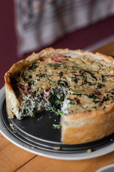 Vegan Quiche, Spanakopita, Salmon Burgers, Tofu, Breakfast, Ethnic Recipes, Foodies, Mushroom, Morning Coffee