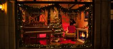 Every Christmas, we have a lovely time decorating our front window. This cozy scene was created by Henry Voung. Front Windows, Christmas 2016, Store Fronts, Scene, Cozy, Decorating, Create, Home Decor, Decor