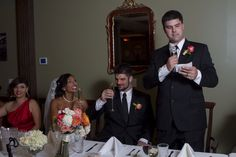 Best Man Toast in the Brewery Ballroom