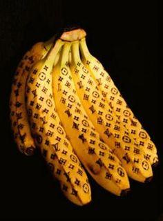 Luxury Branded Bananas by Kazuki Guzman