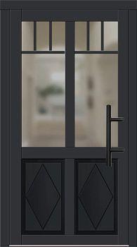 Holz Haustür Modell 2530 schwarz