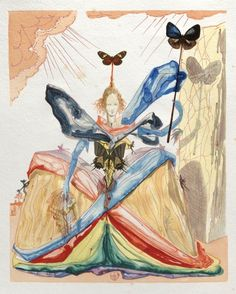 The Queen of the Butterflies ~ Salvador Dali