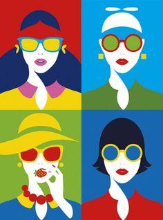 drawings of love Pop Art Illustration, Pop Illustrations, Pop Art Design, Eye Art, Grafik Design, Art Inspo, Amazing Art, Vector Art, Portrait Art