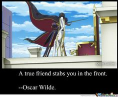 Oscar Wilde. Picture from Code Geass...awesome anime.
