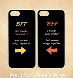iPhone 5s Case iPhone 5c case iPhone 5 case,iPhone 4 Cases iPhone 4s Cases,BFF Quote She's Crazy Arrow Best Friends,Phone Case on Etsy, $17.30 CAD