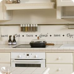 Saute   Cook   Taste   Garnish   Serve   Enjoy (wall Decal From WallWritten