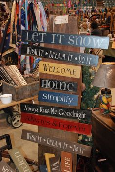 Lots of craft show display ideas