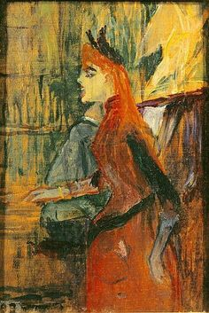 Singing Lesson - Henri de Toulouse Lautrec  1882  French 1864-1901  Musée Toulouse-Lautrec.
