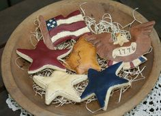 Your place to buy and sell all things handmade Salt Dough Projects, Salt Dough Crafts, Salt Dough Ornaments, Diy Ornaments, Americana Crafts, Primitive Crafts, Patriotic Crafts, Summer Crafts, Holiday Crafts