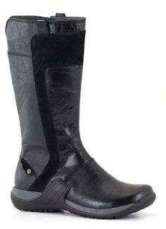 A new take on the tall black boot. Ruggedized version!
