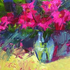 Original artwork from artist Roxanne Steed on the Daily Painters Gallery Palette Knife Painting, Joy Of Life, Small Canvas, Zinnias, Flower Art, Still Life, Floral Paintings, Oil Paintings, Abstract