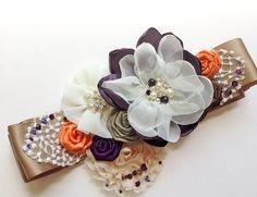 Hey, I found this really awesome Etsy listing at http://www.etsy.com/listing/159883680/fall-wedding-bridal-sash-plum-ivory