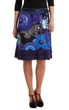 Shop Desigual Spring/Summer 2018 women's clothing. Knit Skirt, Tie Dye Skirt, Spring Summer 2018, Best Sellers, Fashion Brands, Clothes For Women, My Style, Lady, Casual