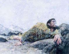 Greg Harlin - Ötzi | Cover illustration for Secrets of the Iceman