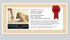 Dancers Love Dogs E-ticket Identity, Portfolio Design, Logos, Dancers, Ticket, Bring It On, Portfolio Design Layouts, Logo, Dancer