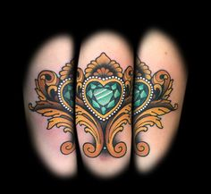 Gem heart by tattoo artist Myra Brodsky.