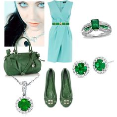 green, created by cristina1207 on Polyvore