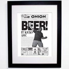 BEER! It Kicks Ass! 1994 framed poster. $35.97