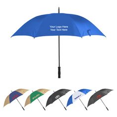 60 Inch arc custom printed logo lightweight umbrellas -  Brilliant buy for any marketer who wish to promote their brands. #umbrella #promotionalitem #giveaways #golf #personalize