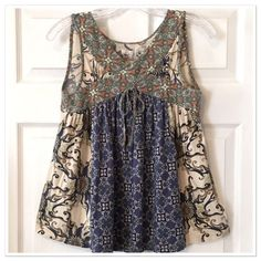 odd molly Boho Babydoll Top Gently used but flawless - 100% cotton - size 1 =  small Odd Molly Tops