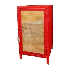 Industrial Wooden Door Cabinet