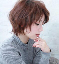 Pin on ヘアスタイル Hair Inspo, Hair Inspiration, Japanese Short Hair, Androgynous Haircut, Shag Hairstyles, Cut My Hair, Mi Long, Hair Dos, 50 Hair